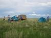 Полевой экспедиционный лагерь. Восточная Монголия, лето 2012. Фото Л. Сараевой