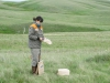 Отбор надземной фитомассы на стационарном мониторинговом участке (Дусаева Г.Х.), Оренбургский заповедник. Фото предоставлено Оренбургским заповедником