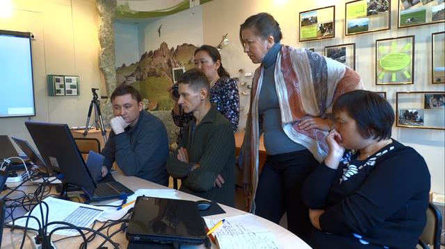 Семинар по применению ГИС-продуктов в работе ООПТ, март 2015. Фото Р. Рыгзыновой
