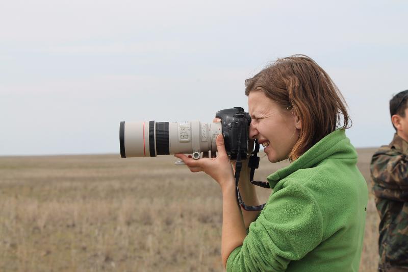 Экскурсия в степь. День степи в заповеднике «Черные земли», апрель 2015. Фото предоставлено Э. Габунщиной