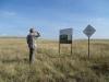 Эксперт ГЭФ на границе Оренбургского заповедника, участок «Буртинская степь». Фото И. Смелянского