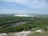 Вид на отстойники содового комбината с вершины шихана Куш-тау. Республика Башкортостан. Фото В.Б. Мартыненко