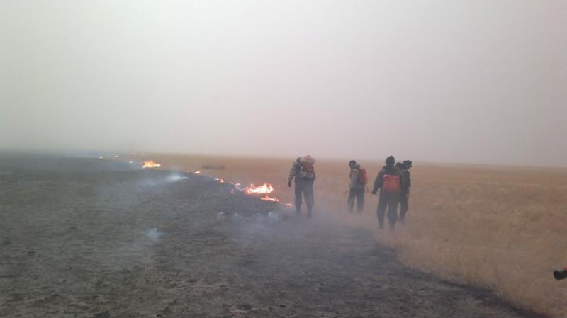 Тушение пожара в степи. Забайкальский край, апрель 2012. Фото В. Кирилюка