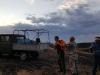 Пожар, угрожающий участку Оренбургского заповедника «Айтуарская степь», 12 июля 2015 г. Фото предоставлено ФГБУ «Заповедники Оренбуржья»