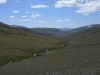 Ландшафты ксерофитной горной степи. Хребет Сайлюгем, Республика Алтай, июль 2009. Фото И.Э. Смелянского