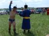 Борец исполняет танец орла перед схваткой. Празднование 20-летия российско-монгольско-китайского международного заповедника «Даурия», 24-28 июня 2014 г., Восточная Монголия. Фото Т. Горошко