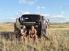 Группа исследователей, обследование степей Восточного Казахстана, 2015. Фото предоставлено Сибэкоцентром
