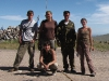 Проведение опросов по манулу в Республике Тыва. Группа исследователей