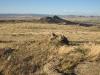 Сухая гемипетрофитная степь, останцы в левобережье Тес-Хема, Республика Тыва, август 2007. Фото А.Н. Барашковой