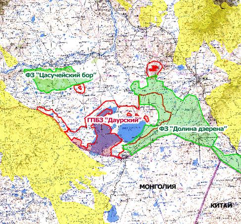 Даурский заповедник и степные пожары, данные снимка 21.04.2015