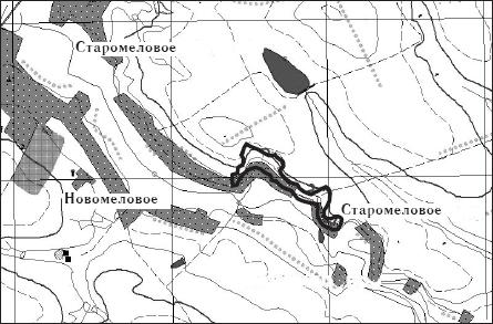 Предлагаемые границы памятника природы «Старомеловое»